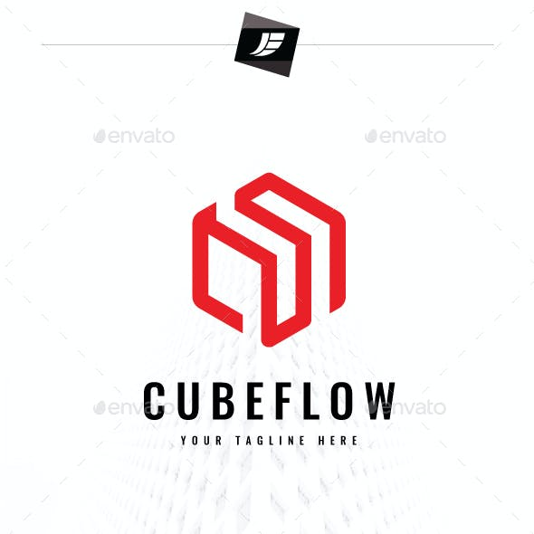 Abstract Cube Flow Logo