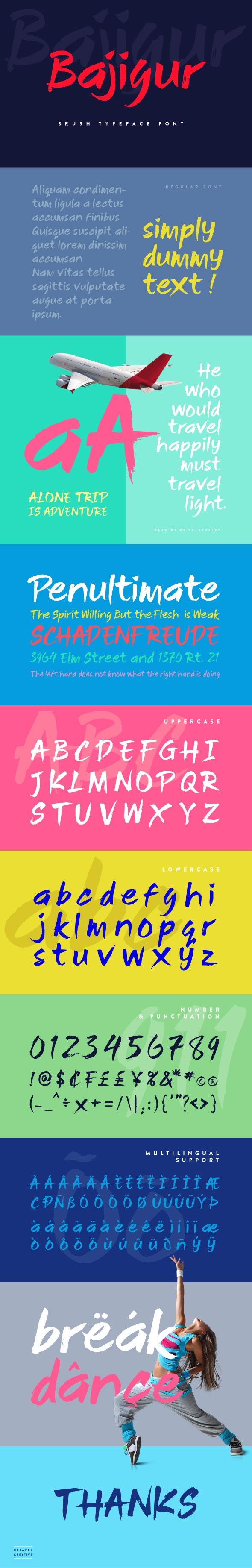 Bajigur - Handwriting Fonts
