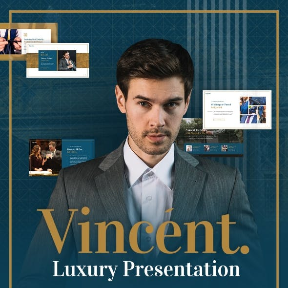 Vincent Luxury Presentation Powerpoint Template Fully Animated