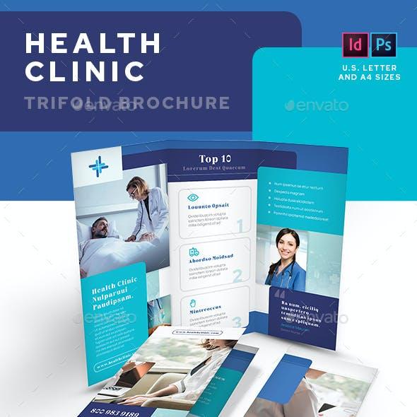 Health Clinic Trifold Brochure