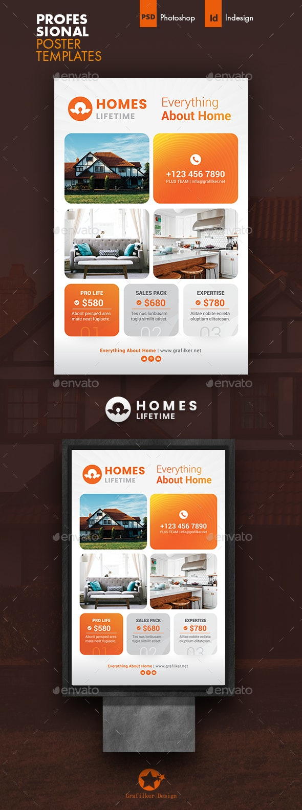 Real Estate Poster Templates - Signage Print Templates