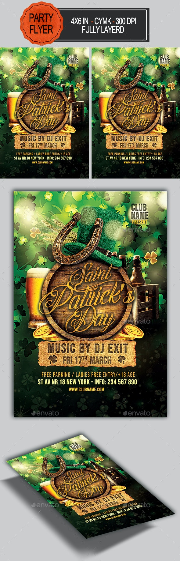 St Patrick's Day Flyer - Holidays Events