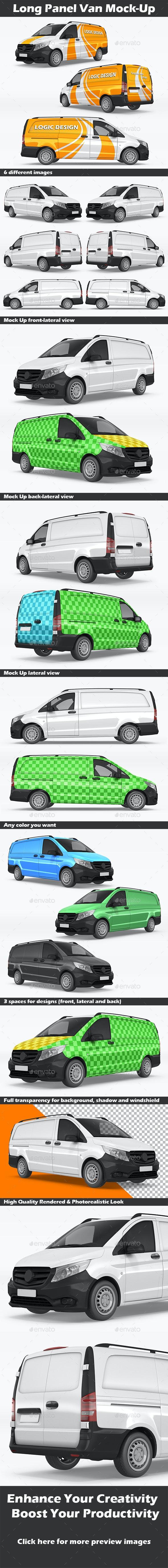 Long Panel Van Mock-Up - Vehicle Wraps Print