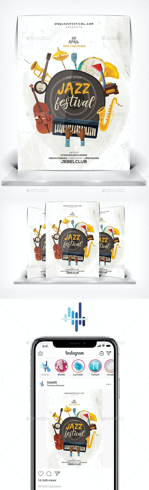 Jazz Festival Flyer - Flyers Print Templates