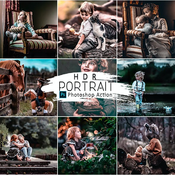 HRD Portrait  Photoshop Actions