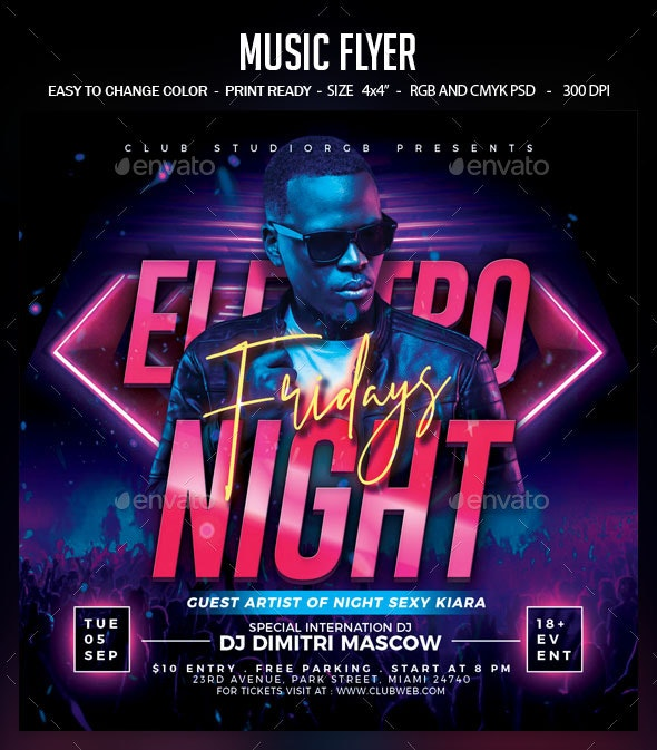 Music Flyer - Clubs & Parties Events