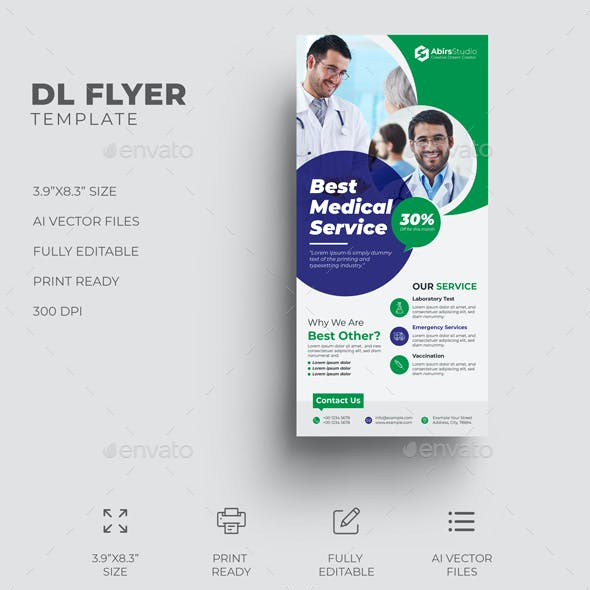 Medical DL Flyer Template