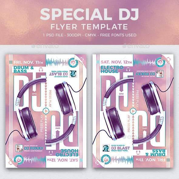 Special Dj Flyer Template V8