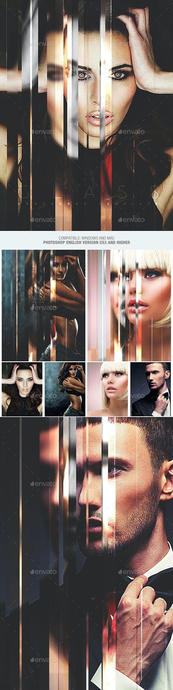 Glass Photo Template - Artistic Photo Templates