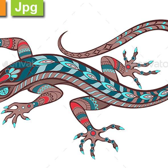 Patterned Lizard