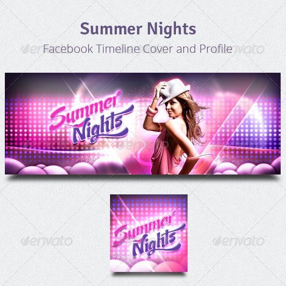 Summer Nights - Facebook Timeline Cover & Profile