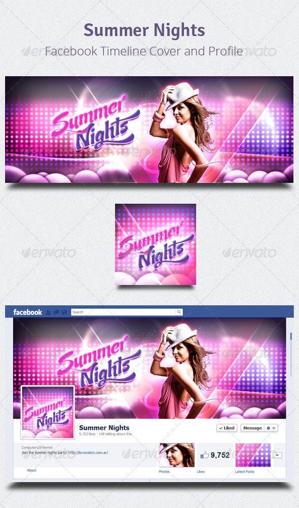 Summer Nights - Facebook Timeline Cover & Profile - Facebook Timeline Covers Social Media
