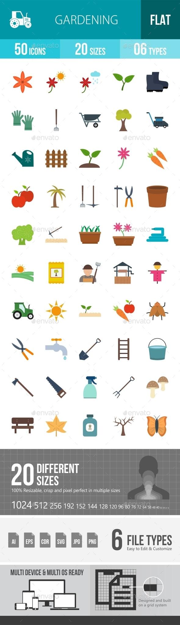 Gardening Flat Multicolor Icons Season II - Icons
