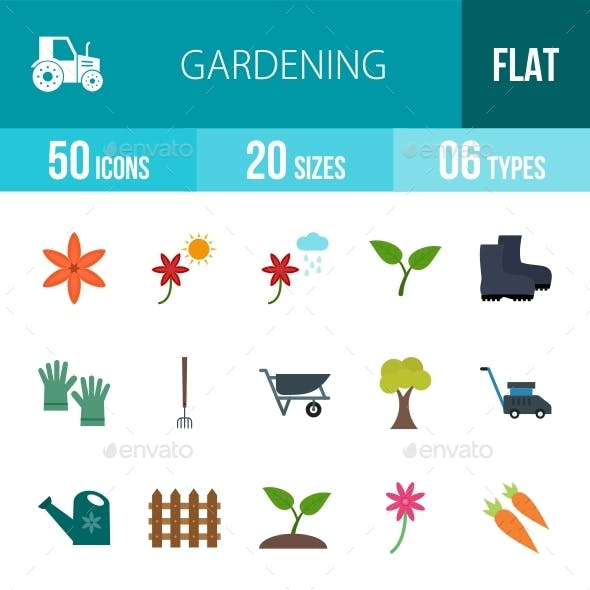 Gardening Flat Multicolor Icons Season II