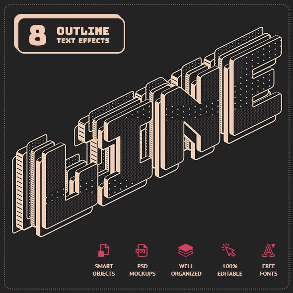 Outline Text Effects