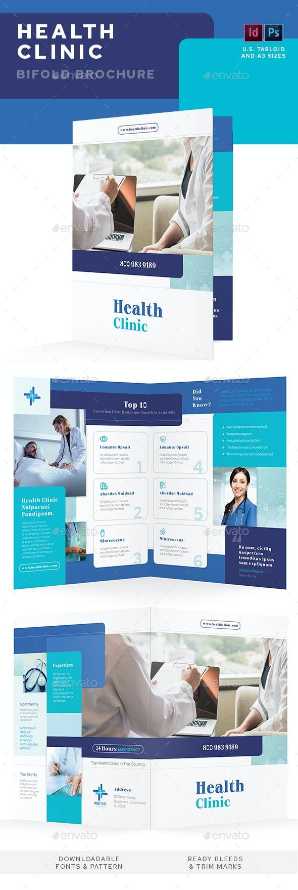 Health Clinic Bifold Brochure - Informational Brochures