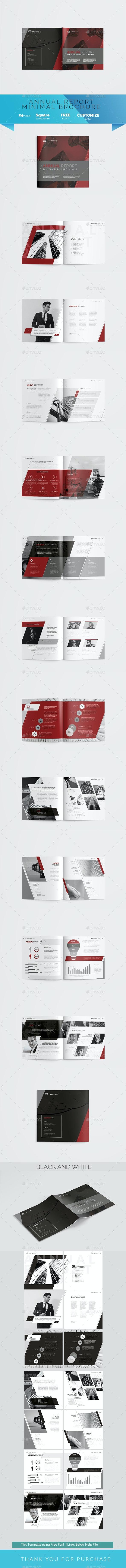 Minimal Annual Report - Corporate Brochures