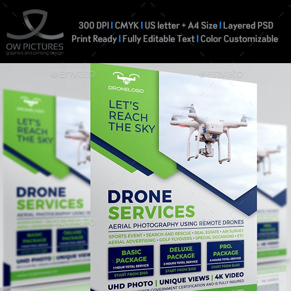 Drone Services Flyer Template