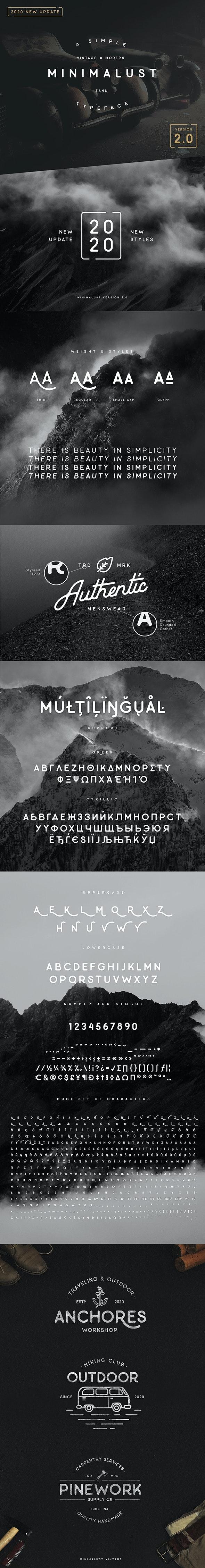 Minimalust Typeface - Sans-Serif Fonts