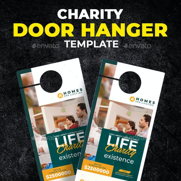 Charity Door Hanger Template