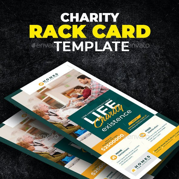 Charity Rack Card Template