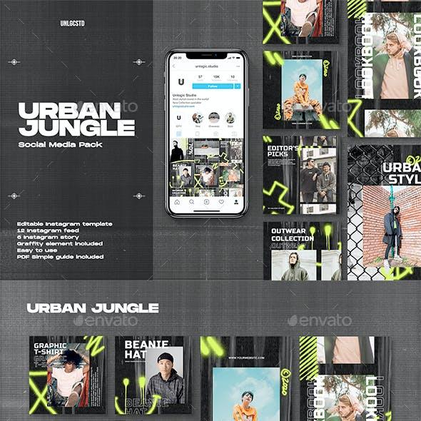 Urban Jungle Instagram Social Media Pack