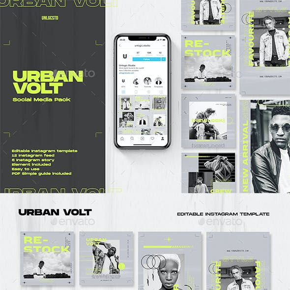 Urban Volt Instagram Social Media Pack