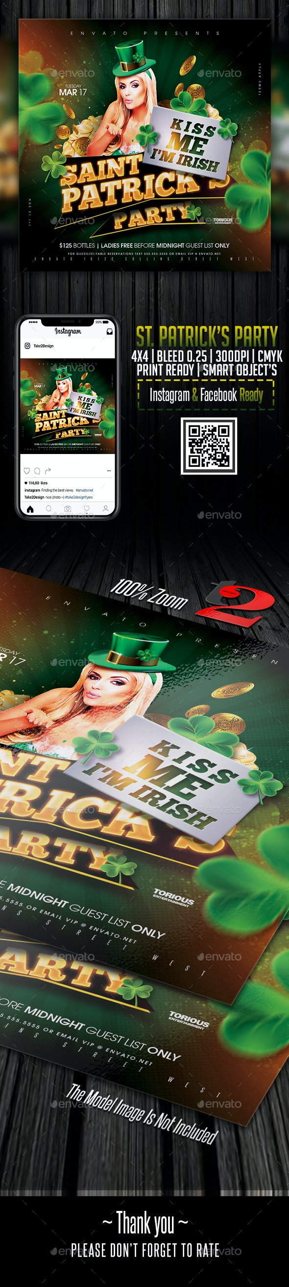 St. Patrick's Party Flyer Template - Clubs & Parties Events