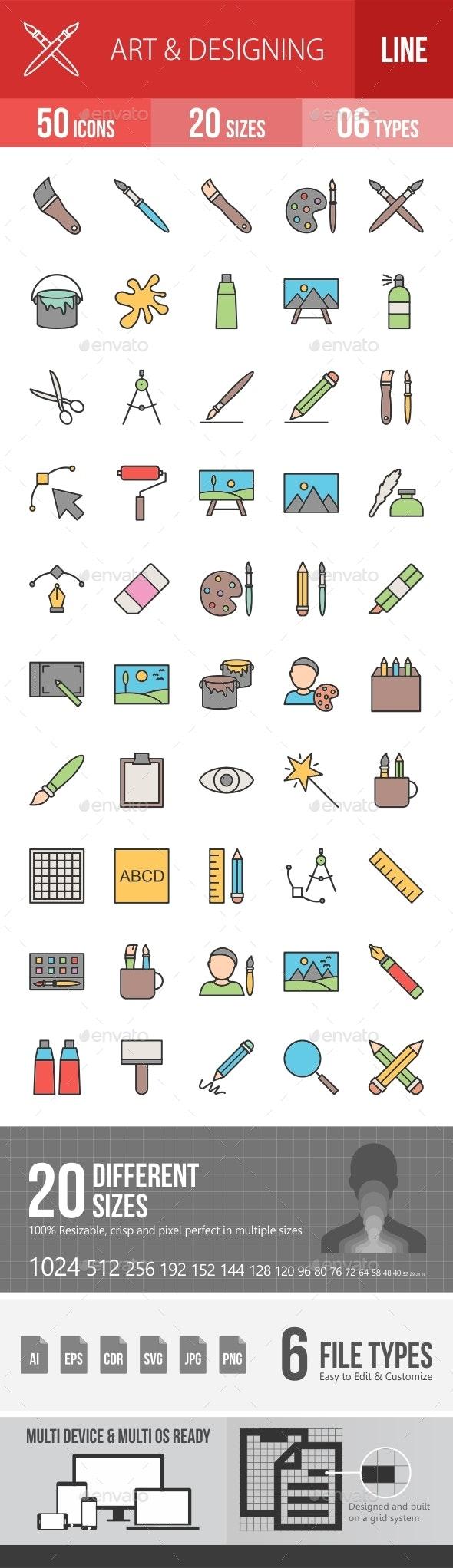 Art & Designing Filled Line Icons Season II - Icons