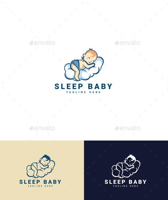 Sleeping Baby Logo - Humans Logo Templates