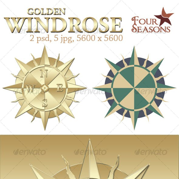 Golden windrose