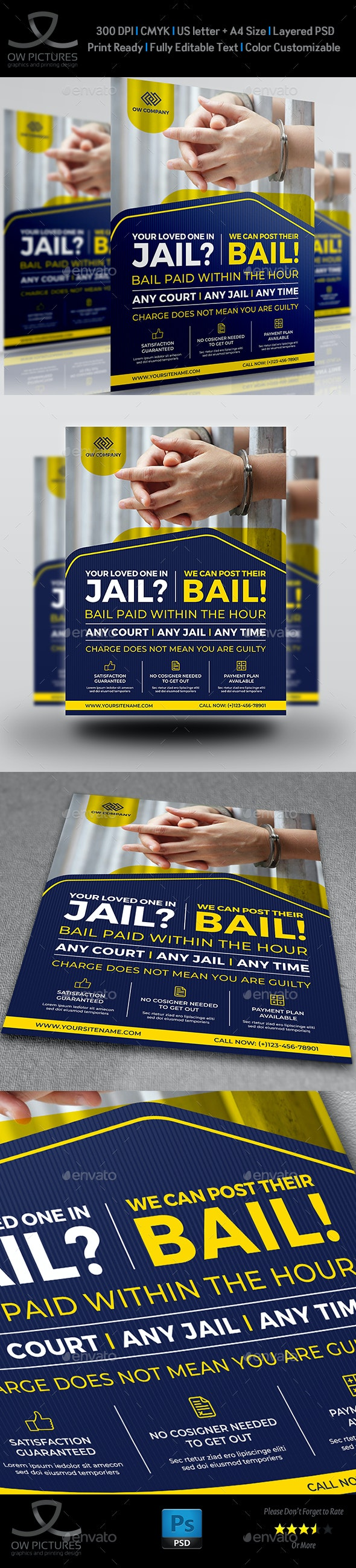 Jail and Bail Flyer Template - Flyers Print Templates