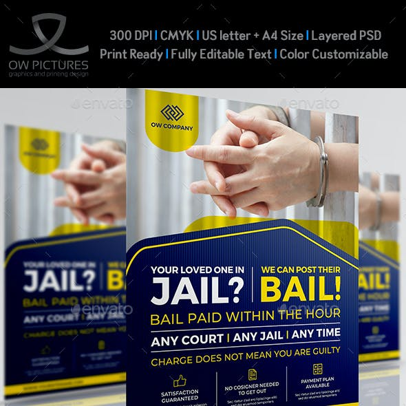 Jail and Bail Flyer Template