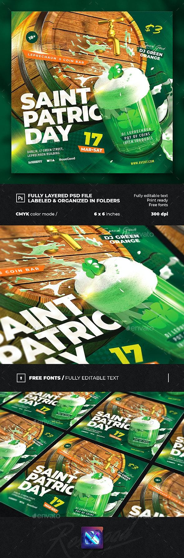 Saint Patricks Day Party Flyer vol.3 - Events Flyers