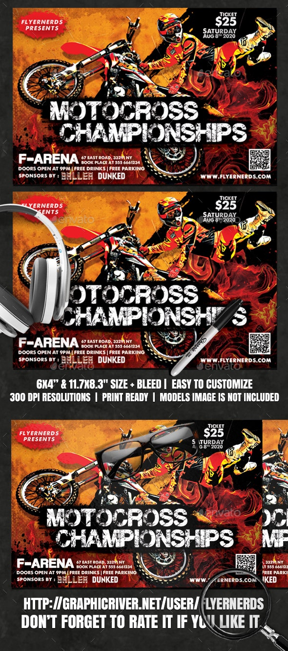 Motocross Championships Flyer - Sports Events