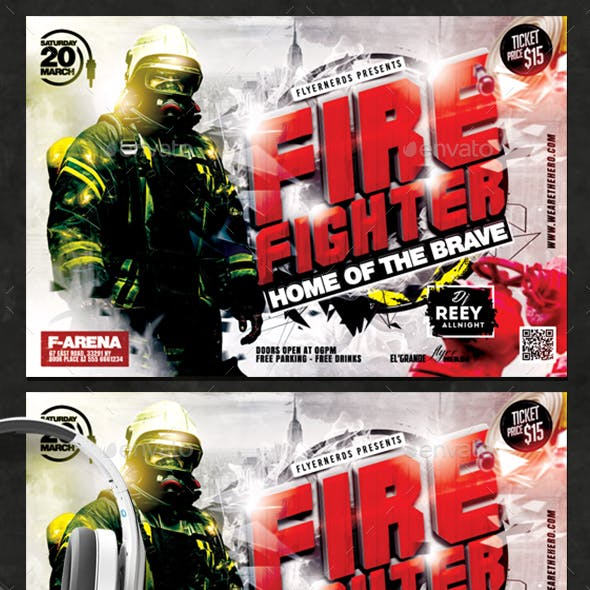 Firefighter Party Flyer