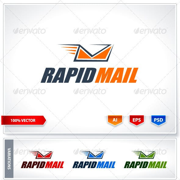 Rapid mail logo template