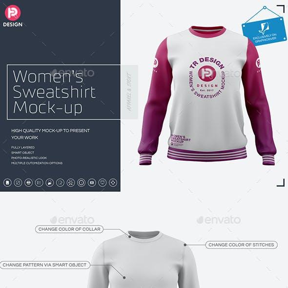 Women's Crew Neck Sweatshirt Mockup