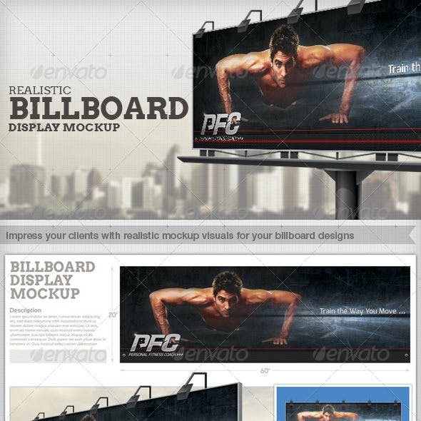 Professional and Realistic Billboard Mock-Up