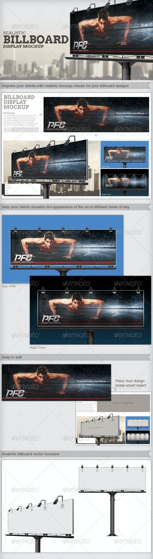 Professional and Realistic Billboard Mock-Up - Signage Print