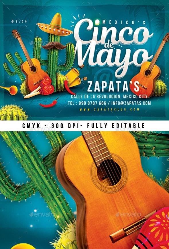 Mexico Cinco de Mayo Flyer - Events Flyers