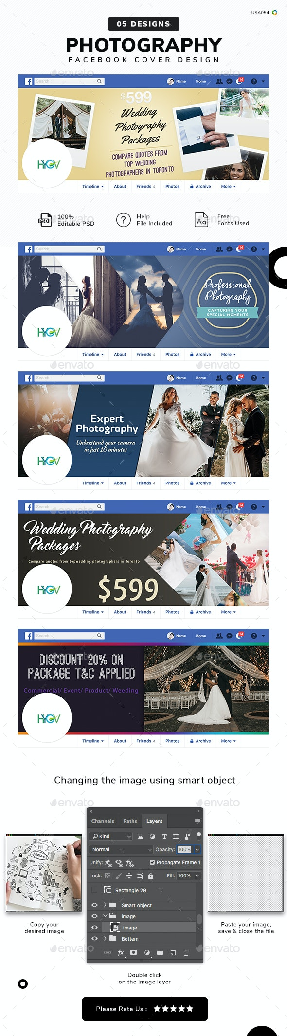 Photography Facebook Cover Templates - 05 Designs - Facebook Timeline Covers Social Media