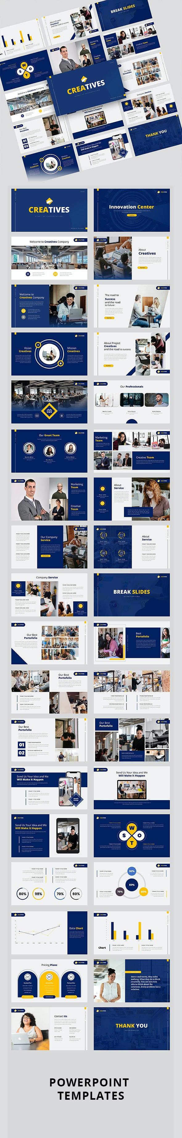 Creatives – Creative Business PowerPoint Template - Creative PowerPoint Templates