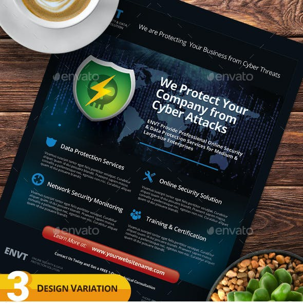 Cyber Security Flyer Templates