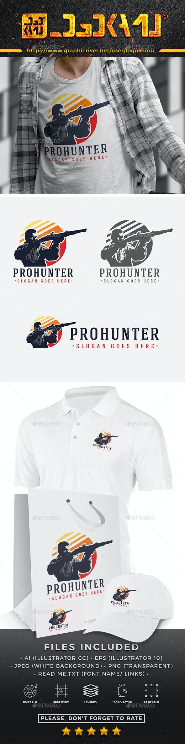 Pro Hunter Logo - Humans Logo Templates