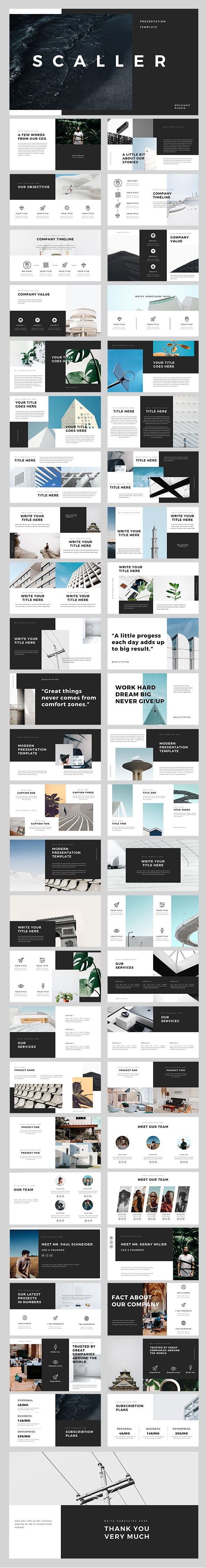 Scaller PowerPoint Template - Creative PowerPoint Templates
