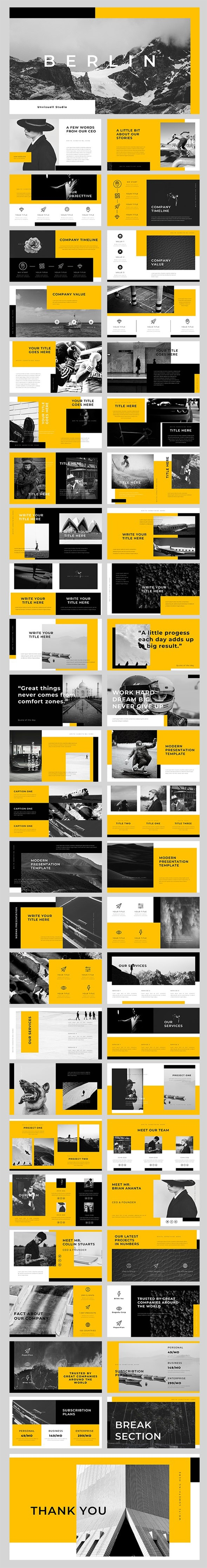 Berlin PowerPoint Template - PowerPoint Templates Presentation Templates