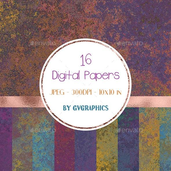 Grunge Textured Digital Papers - Industrial / Grunge Textures