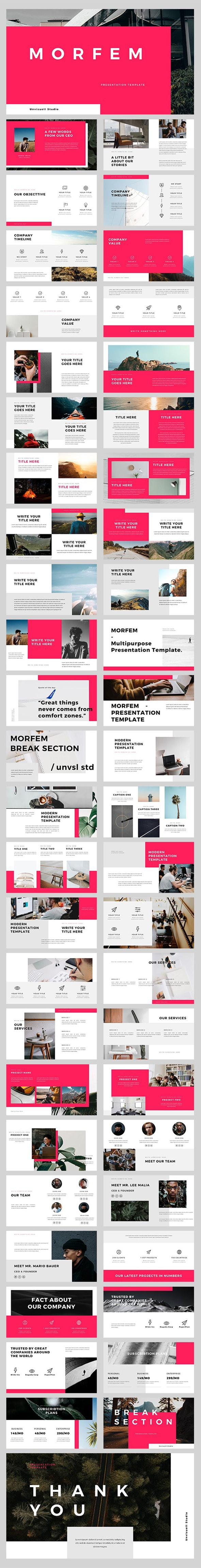 Morfem Keynote Template - Creative Keynote Templates
