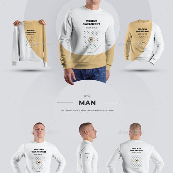 24 Mockup Men Sweatshirt - Man/3D/Objects ( Collection #3 )
